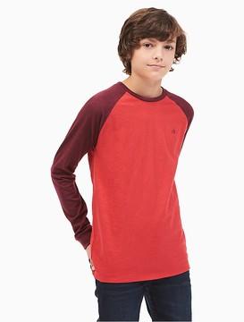 Calvin Klein Jeans Boys Baseball Raglan Shirt