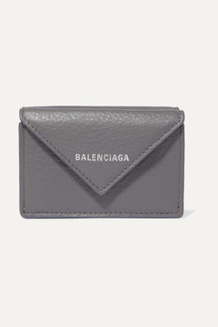 Balenciaga Paper Mini Printed Textured-leather Wallet - Gray