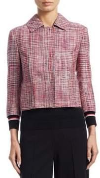 Akris Punto Button Front Tweed Blazer