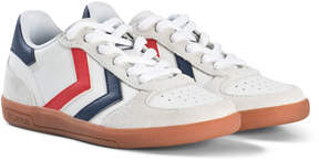 Hummel White Victory Leather Junior Trainers