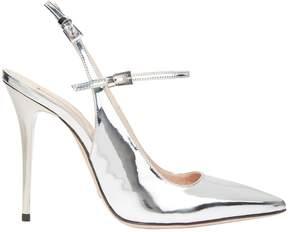Sebastian Silver Leather Slingback Sandals