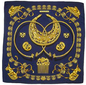 One Kings Lane Vintage HermAs Cavaliers D'Or Scarf - The Emporium Ltd.
