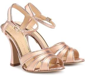 Charlotte Olympia Metallic leather sandals