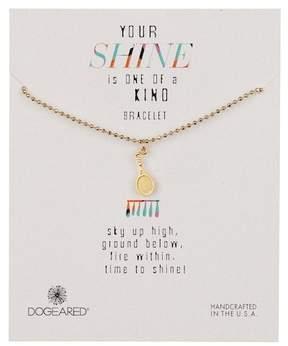 Dogeared 14K Gold Vermeil Your Shine Tennis Charm Bracelet