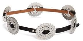 GUESS Women's Western Conch Skinny Belt