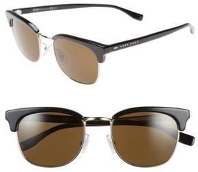 BOSS Men's 52Mm Retro Sunglasses - Black/ Pale Gold/ Brown