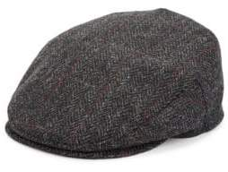 Saks Fifth Avenue COLLECTION Herringbone Plaid Classic Wool Ivy Cap