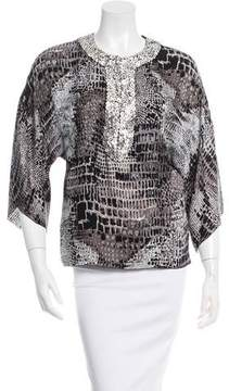 Andrew Gn Embellished Printed Top