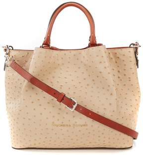 Dooney & Bourke Ostrich Collection Large Barlow Satchel - SAND - STYLE
