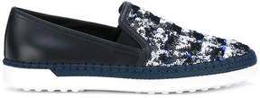 Tod's sequin embellished slip-on sneakers