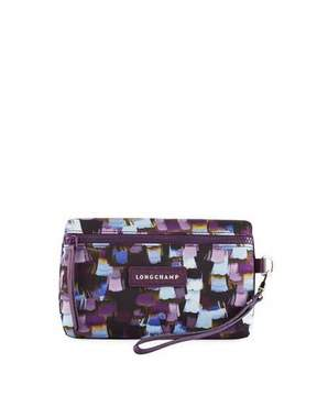 Longchamp Le Pliage Neo Vibration Cosmetics Bag, Deep Purple