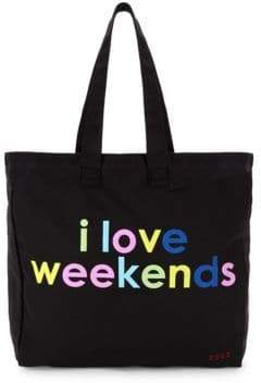 Peace Love World I Love Weekends Tote
