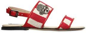 N°21 Embellished Cotton Canvas Sandals