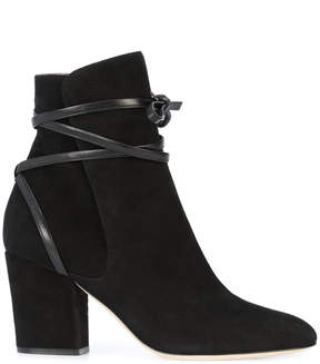 Sergio Rossi tie detail ankle boots