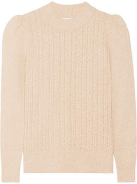 Co Metallic Cable-knit Sweater - Gold