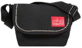 Manhattan Portage Unisex Studded Nylon Jr. Messenger Bag.
