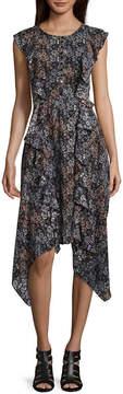 BELLE + SKY Sleeveless Side Ruffle Dress