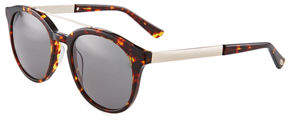Oscar de la Renta O By Duo-Tone Modified Retro Aviator Sunglasses