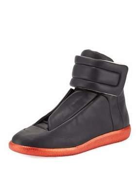 Maison Margiela Men's Future High-Top Sneakers, Black/Red