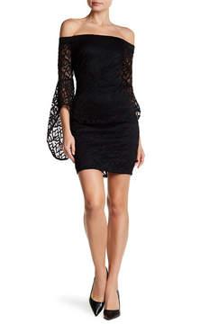 Bebe Lace Off-the-Shoulder Dress