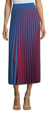 Derek Lam Pleated Stripe Skirt