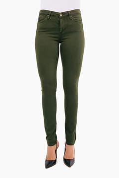 AG Jeans Women's Sulfur Dark Moss Prima Sateen Pant