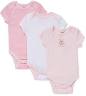 Little Me Baby Girls' 3-Pack Sweet Bear Bodysuits
