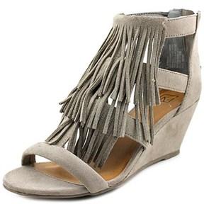 Material Girl Hannah Women Open Toe Suede Wedge Sandal.