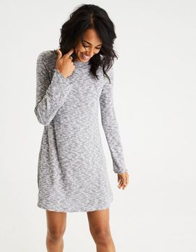 American Eagle Outfitters AE Lettuce-Edge Sweater Dress