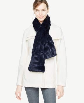 Ann Taylor Pink Weekend Faux Fur Stole