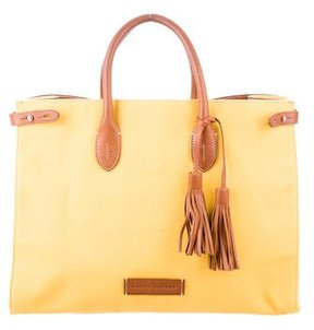 Ralph Lauren Leather & Canvas Tote