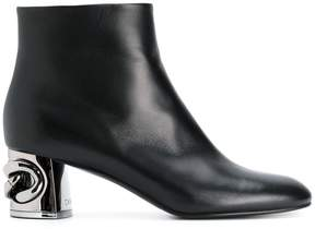 Casadei chain heel ankle boots