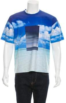 Calvin Klein Collection Ocean Sky Neoprene T-Shirt w/ Tags