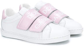 Dolce & Gabbana TEEN logo strap sneakers