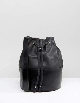 Park Lane Real Leather Bucket Bag