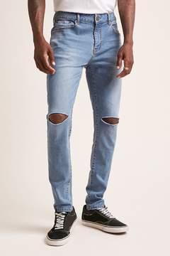 21men 21 MEN Ripped-Knee Skinny Jeans