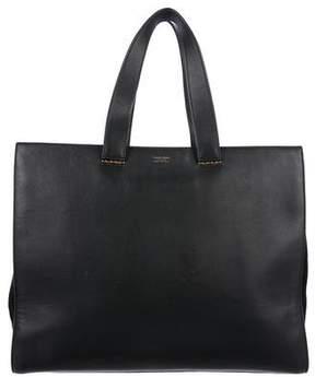 Giorgio Armani Medium Leather Shopping Tote