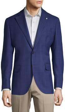 Lubiam Men's Windowpane Wool Jacket
