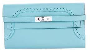 Hermes 2015 Swift Ghillies Kelly Longue Wallet