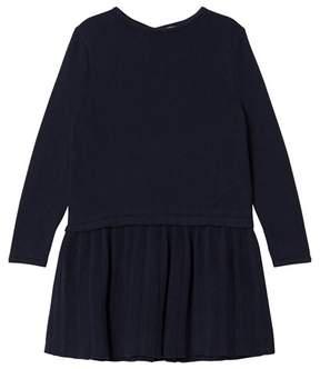 Cyrillus Navy Long Sleeve Dress