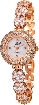 Burgi Unisex Rose Goldtone Bracelet Watch-B-139rg