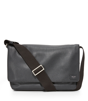 Jack Spade Pebbled Leather Zip Messenger