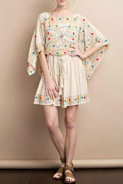 Easel Maria Embroidered Dress