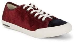 SeaVees Army Velvet Low-Top Sneakers