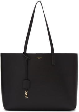 Saint Laurent Black and Beige East-West Shopping Tote