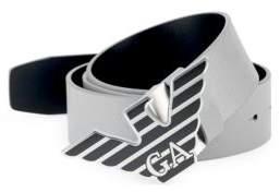 Emporio Armani Leather Logo Plaque Belt