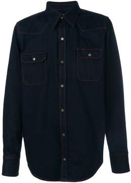 Calvin Klein contrast-stitch denim shirt