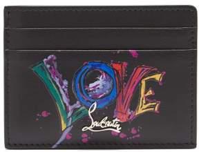 Christian Louboutin Kios Love Leather Cardholder - Womens - Black Multi