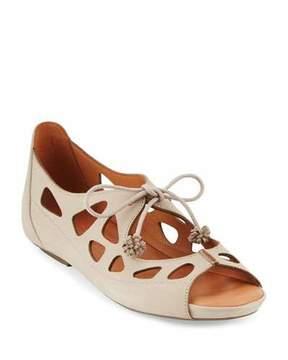Gentle Souls Brynn Nubuck Lace-Up Sandals, Beige