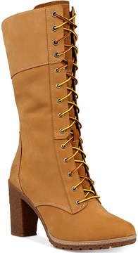 Timberland Women's Glacy Lace-Up Block-Heel Boots Women's Shoes